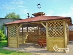 Altany drewniane o typowych wymiarach i kształtach oraz według pomysłu klienta.