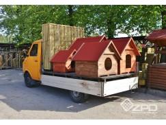 Różnego typu wyroby z drewna. Płoty drewniane, donice ogrodowe drewniane, rollbordery, palisady, sztachety.